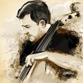 Comission para o Violoncelista do Teatro Municipal de São Paulo, Raiff Barreto. Pintura Digital.